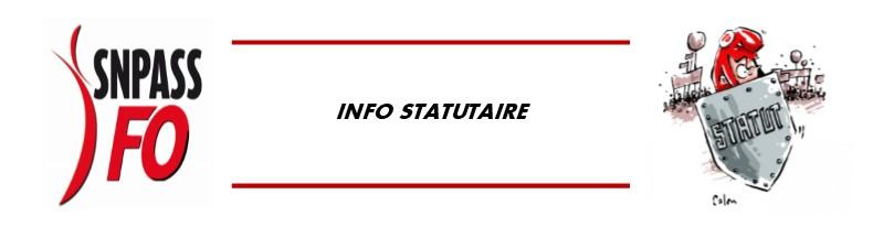 Statutaire Syndicat National Des Personnels Des Affaires